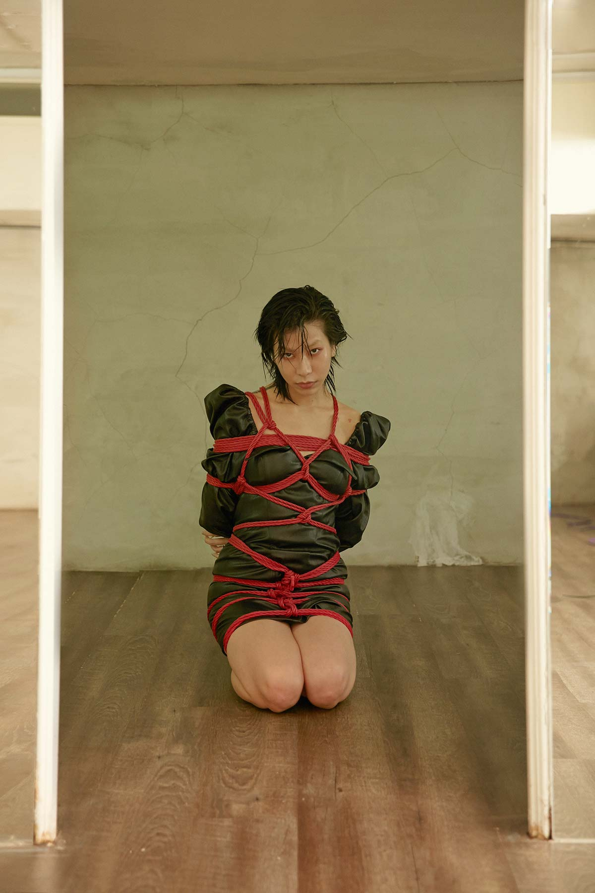 jenn lee, shibari ties, shibari knots, shibari design, fashion designer, taiwan designer, dennis fei